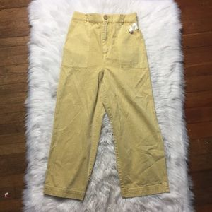 Free People Yellow Wide Leg Jeans